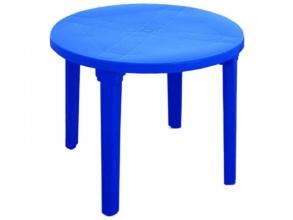 """Стол круглый пластмассовый d 90 см. темно-синий """"Алеана"""""""