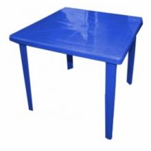 """Стол квадратный пластмассовый 80х80 см. темно-синий """"Алеана"""""""