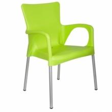Кресло Sumela с алюмин. ножками СИНИЙ