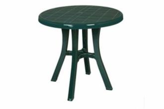 Стол пластмассовый круглый d 80 см. зеленый