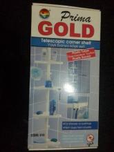 Полка для ванной Prima GOLD на пластмассовой трубе