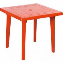 """Стол квадратный пластмассовый 80х80 см. красный """"Алеана"""""""