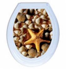 Крышка для унитаза  с рисунком IRAK PLASTIK