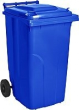 """Бак для мусора 120л. """"Алеана"""" темно-коричневый, синий,оранжевый"""