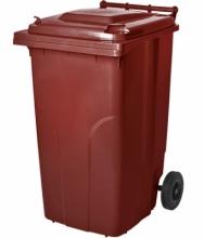 "Бак для мусора 240л. т.кор., т.серый ""Алеана"""